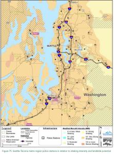 Cascadia Rising Shake Zones
